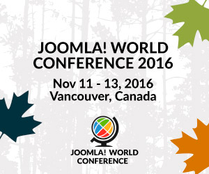 Joomla! World Conference 2016, Sheraton Vancouver, Canada. 11 - 13 November 2016